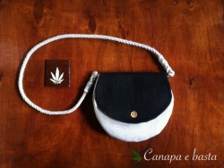 Hemp bag made with Monk and BluMonk black