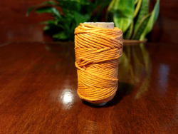 Colored Hemp String - orange