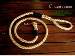 Hemp dog leash (blue)