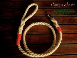 Hemp dog leash (red)